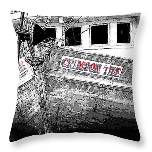 Crimson Tide Throw Pillow by Michael Thomas