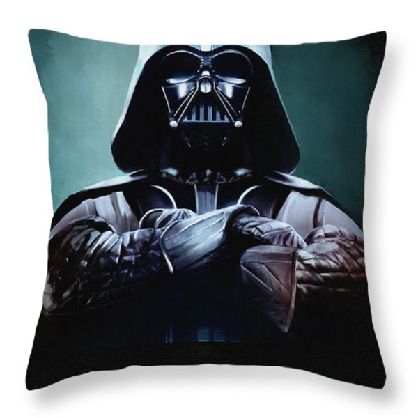 Darth Vader Star Wars  Throw Pillow by Michael Greenaway