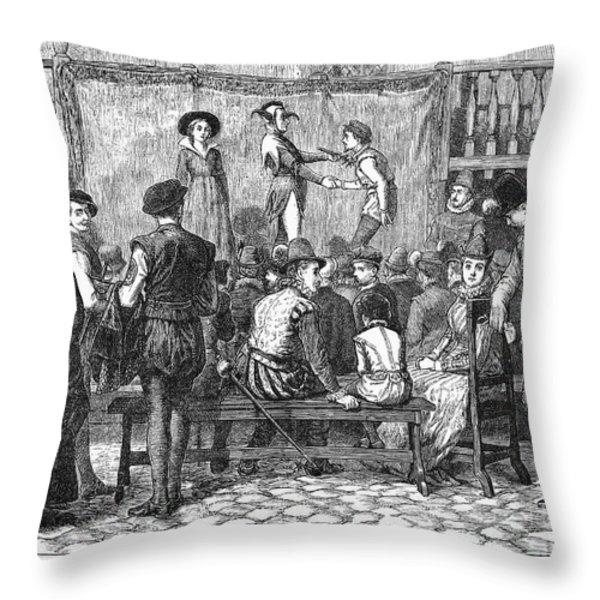 Elizabethan Theatre Throw Pillow by Granger