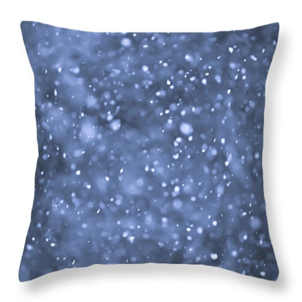 Evening Snow Throw Pillow by Elena Elisseeva