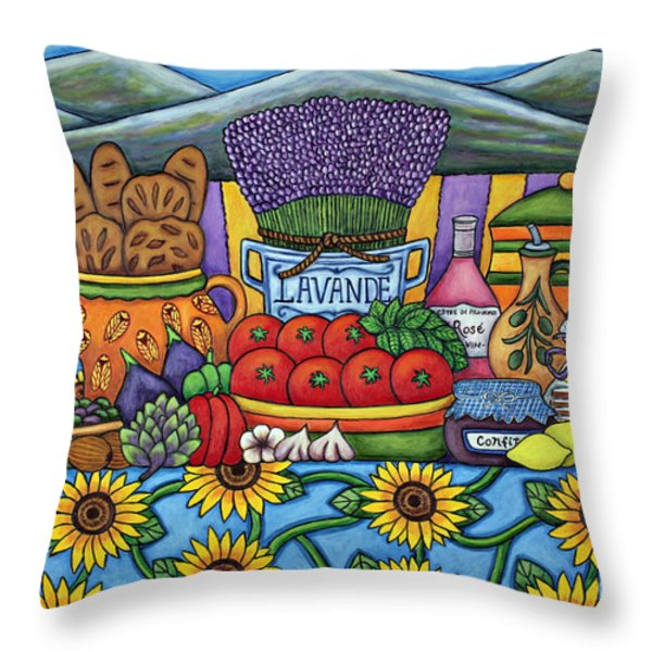 Flavours Of Provence Throw Pillow by Lisa  Lorenz
