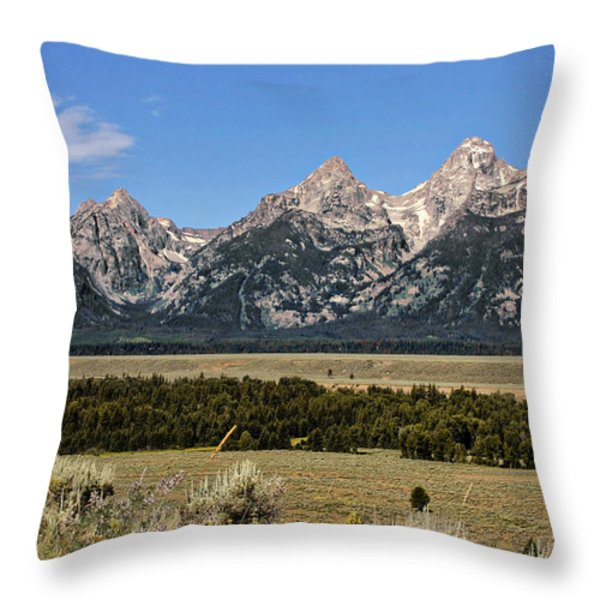 Grand Teton Wy Throw Pillow by Christine Till