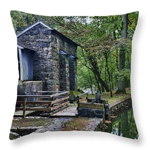 Hagley Museum Throw Pillow by John Greim