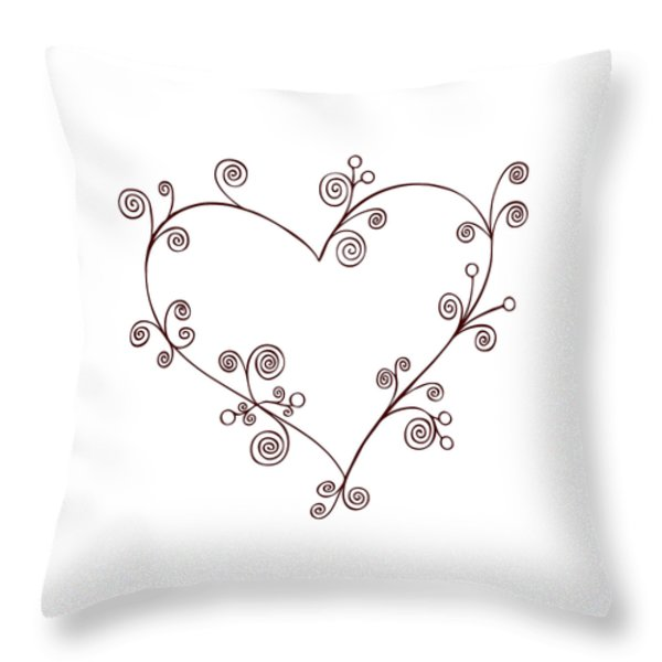 Heart Throw Pillow by Frank Tschakert