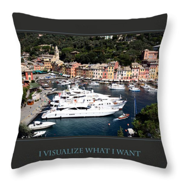I Visualize What I Want Throw Pillow by Donna Corless