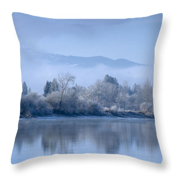 Icy Blue Throw Pillow by Idaho Scenic Images Linda Lantzy