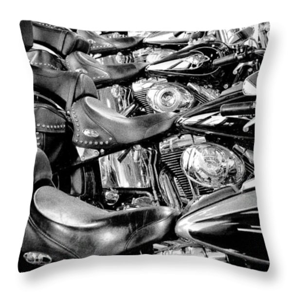 I'll Have a Dozen Harley's to Go Please Throw Pillow by David Patterson