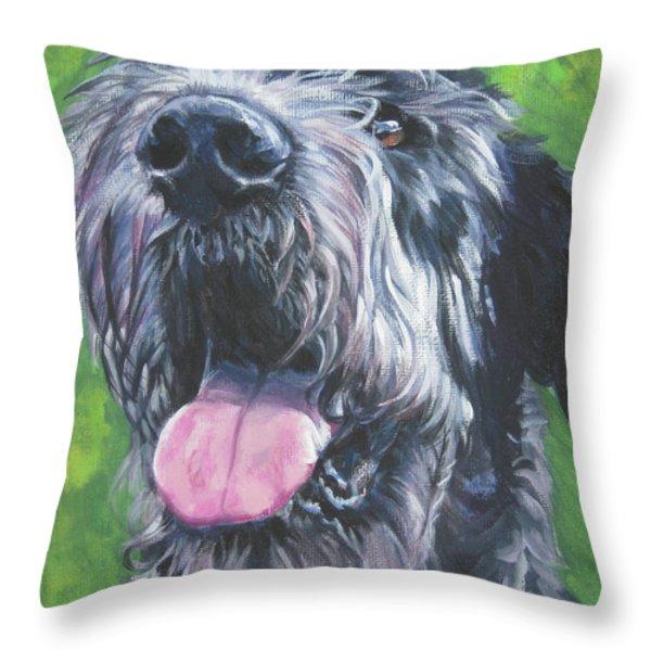 Irish Wolfhound Throw Pillow by Lee Ann Shepard