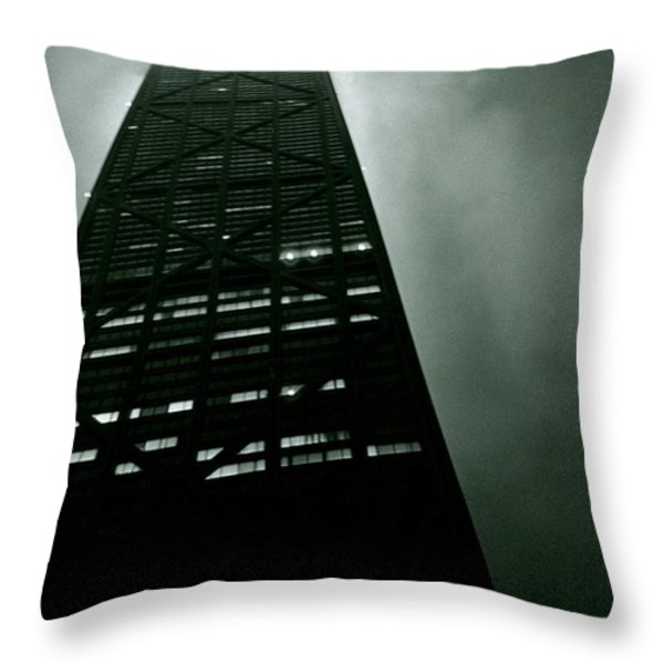 John Hancock Building - Chicago Illinois Throw Pillow by Michelle Calkins