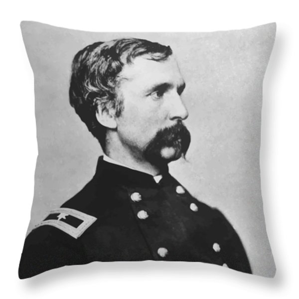 Joshua Lawrence Chamberlain Throw Pillow by War Is Hell Store