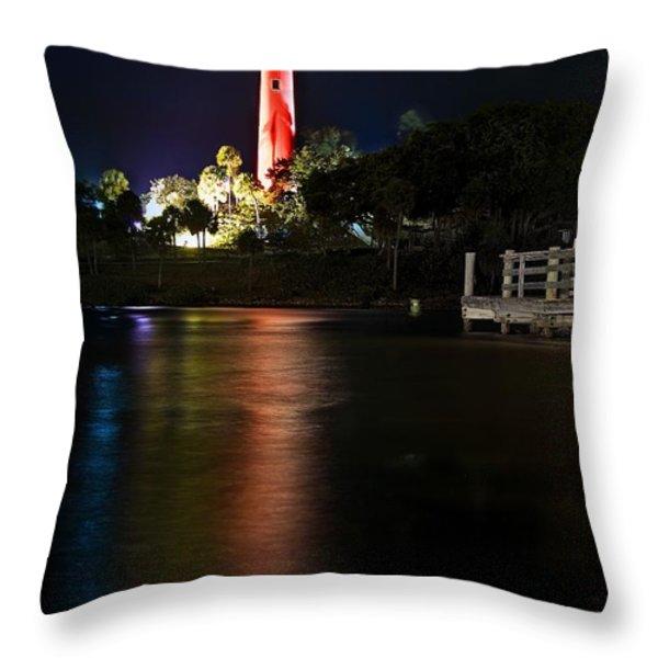 Jupiter Lighthouse Throw Pillow by Robert Smith