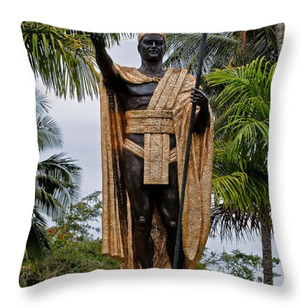 Kamehameha The Great Throw Pillow by Christopher Holmes