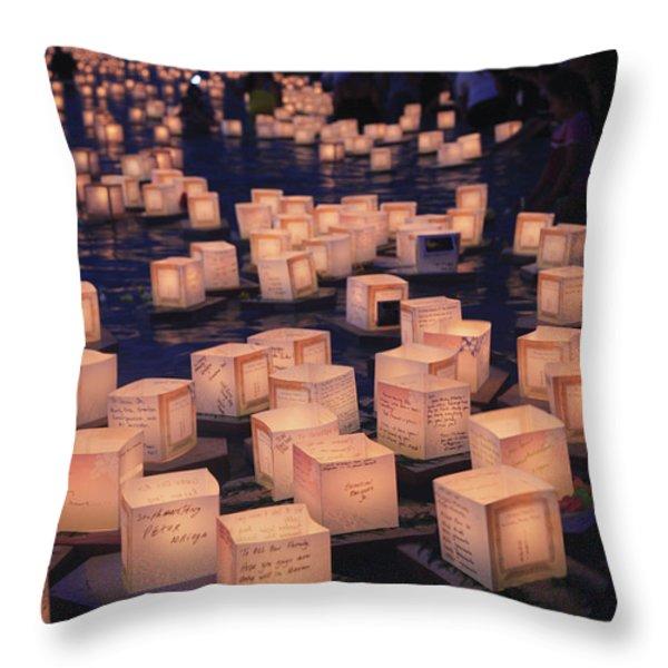 Lantern Ceremony Throw Pillow by Brandon Tabiolo - Printscapes