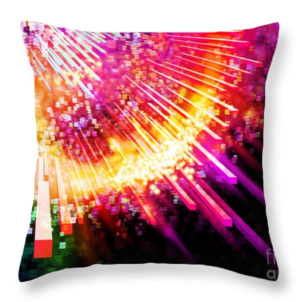 lighting explosion Throw Pillow by Setsiri Silapasuwanchai