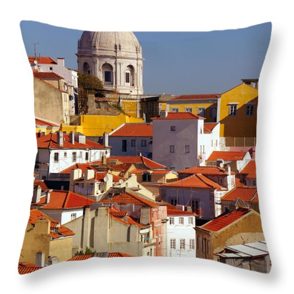 Lisbon View Throw Pillow by Carlos Caetano