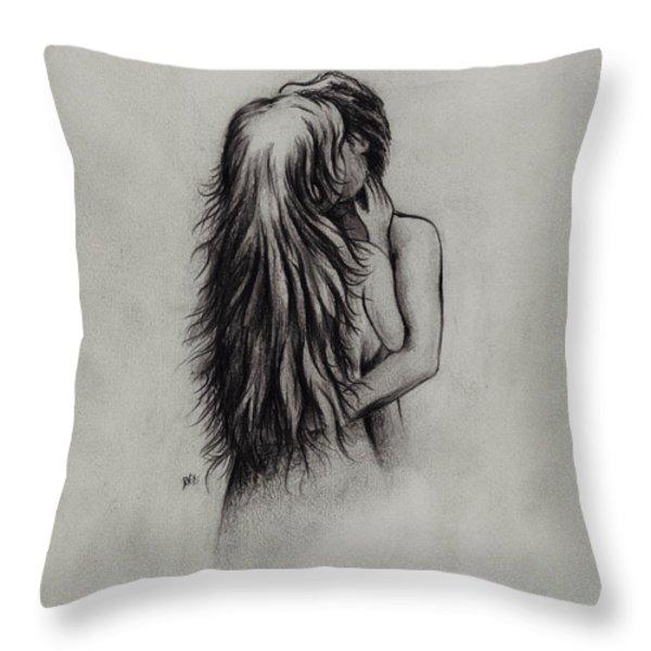 Lovers Throw Pillow by Rachel Christine Nowicki