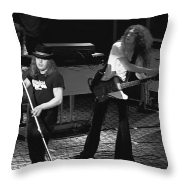 Lynyrd Skynyrd At Winterland Throw Pillow by Ben Upham
