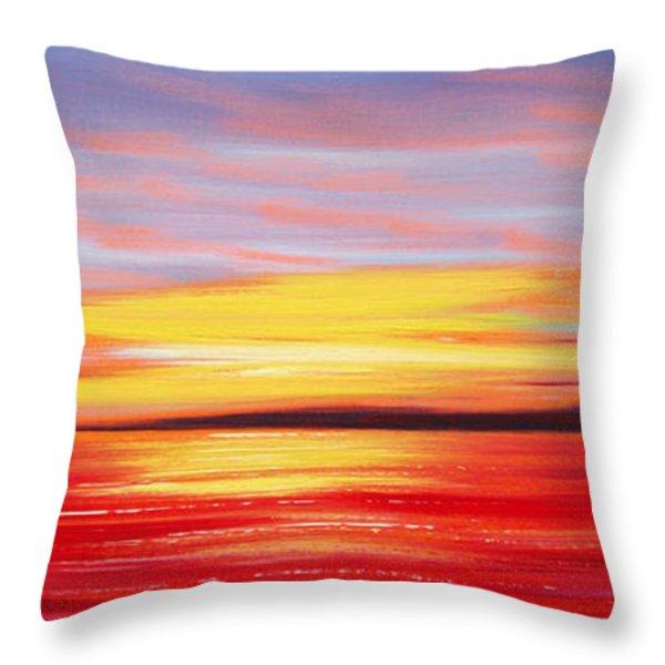 Throw Pillows - Magic at Sunset Throw Pillow by Gina De Gorna