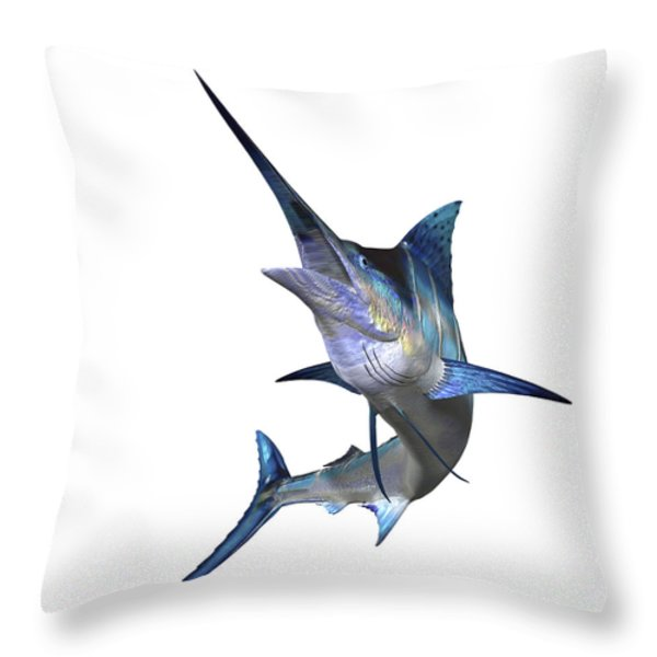 Marlin Throw Pillow by Corey Ford