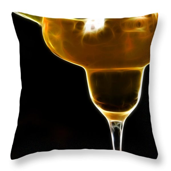 Mexico Gold . Lime Margarita Throw Pillow by Wingsdomain Art and Photography