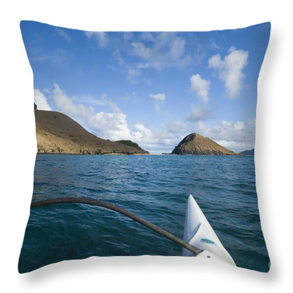 Mokulua Islands Throw Pillow by Dana Edmunds - Printscapes