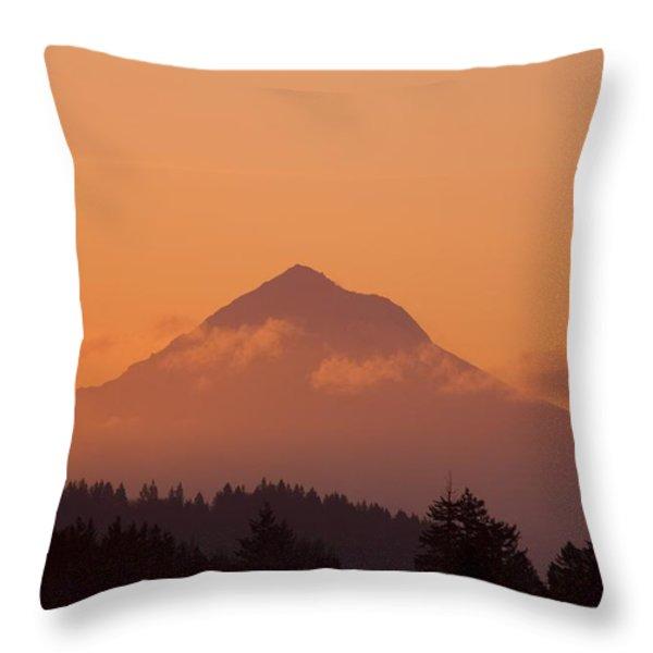 Mount Hood, Oregon, Usa Throw Pillow by Craig Tuttle