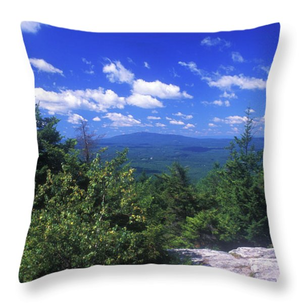 Mount Monadnock from Pack Monadnock Throw Pillow by John Burk