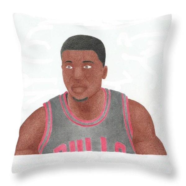Nate Robinson Throw Pillow by Toni Jaso