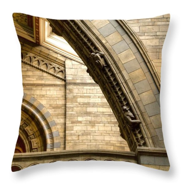 Natural History Museum Kensington Throw Pillow by David French