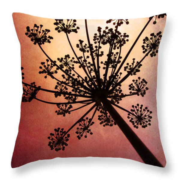 Nature's Fireworks Throw Pillow by Amy Tyler