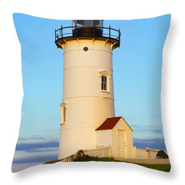 Nobska Point Light Throw Pillow by John Greim