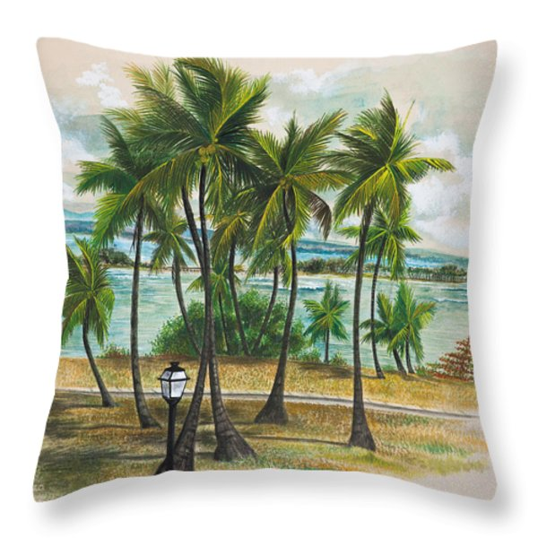 Old San Juan - Morro Throw Pillow by George Bloise