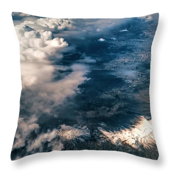 Painted Earth II Throw Pillow by Jenny Rainbow