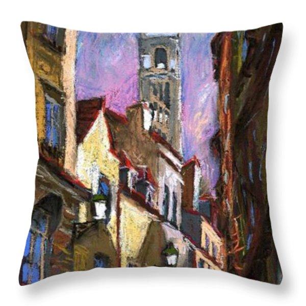 Paris Montmartre  Throw Pillow by Yuriy  Shevchuk