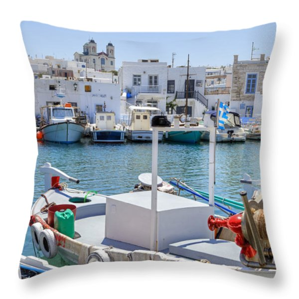 Paros - Cyclades - Greece Throw Pillow by Joana Kruse