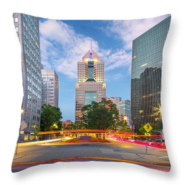 Pittsburgh 16 Throw Pillow by Emmanuel Panagiotakis