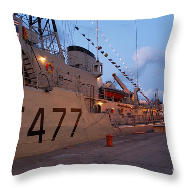 Portuguese Navy frigates Throw Pillow by Gaspar Avila