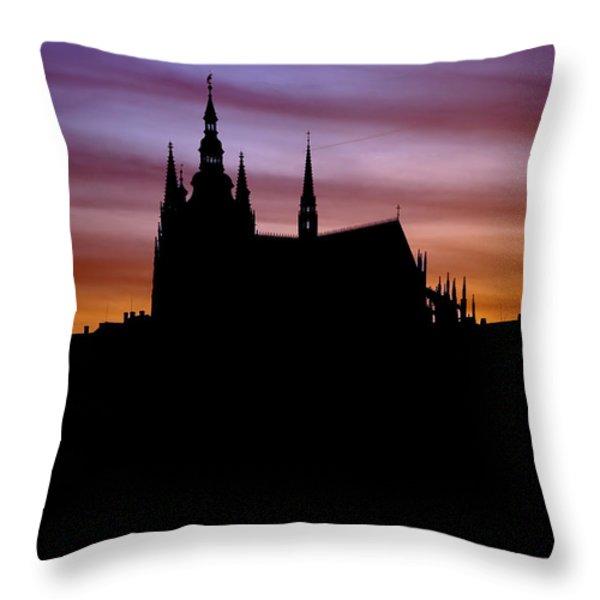 Prague castle Throw Pillow by Michal Boubin