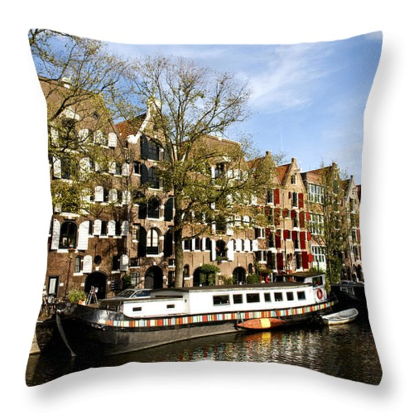 Prinsengracht Throw Pillow by Fabrizio Troiani