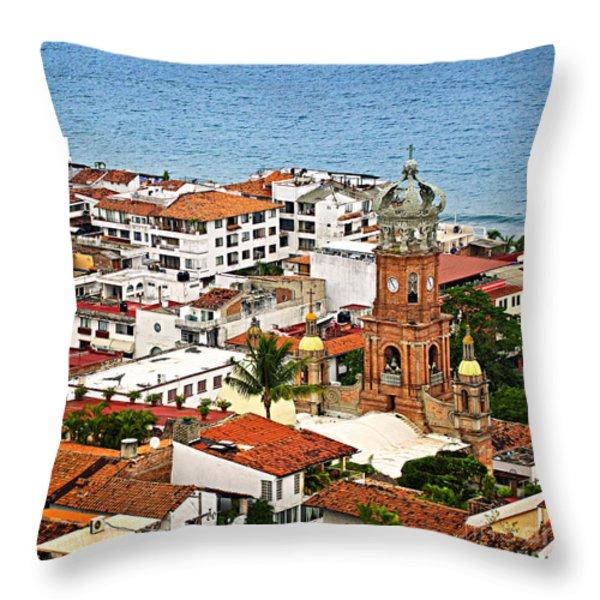 Puerto Vallarta Throw Pillow by Elena Elisseeva