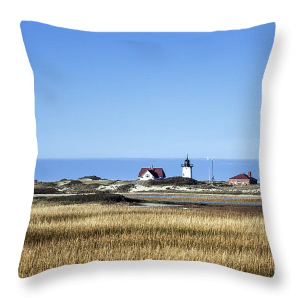 Race Point Lighthouse Throw Pillow by John Greim