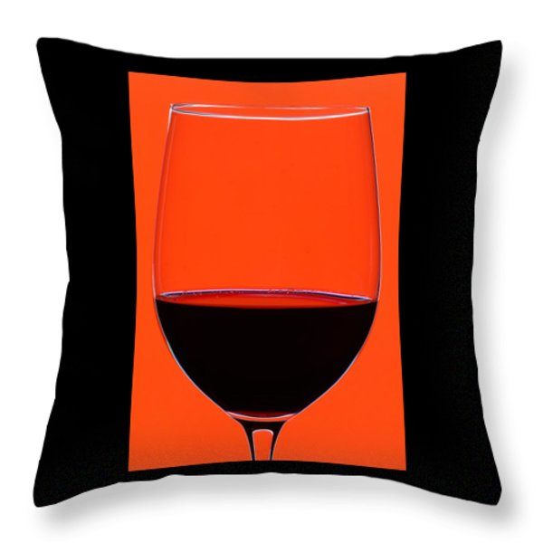 Red Wine Glass Throw Pillow by Frank Tschakert