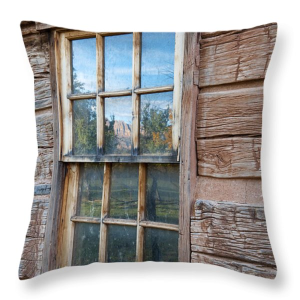 Reflections Of Time Throw Pillow by Sandra Bronstein