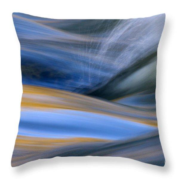 River Throw Pillow by Silke Magino
