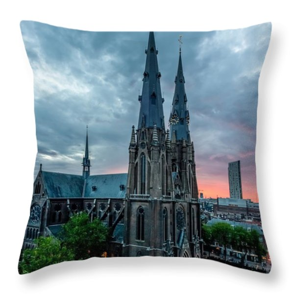 Saint Catherina Church in Eindhoven Throw Pillow by Semmick Photo