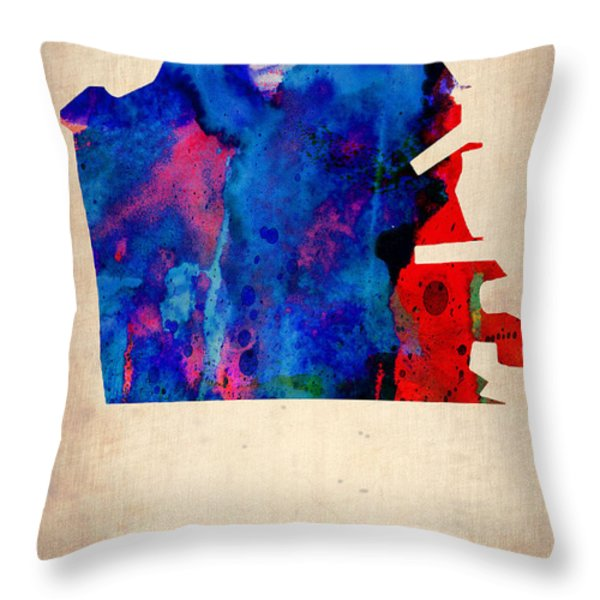San Francisco Watercolor Map Throw Pillow by Naxart Studio