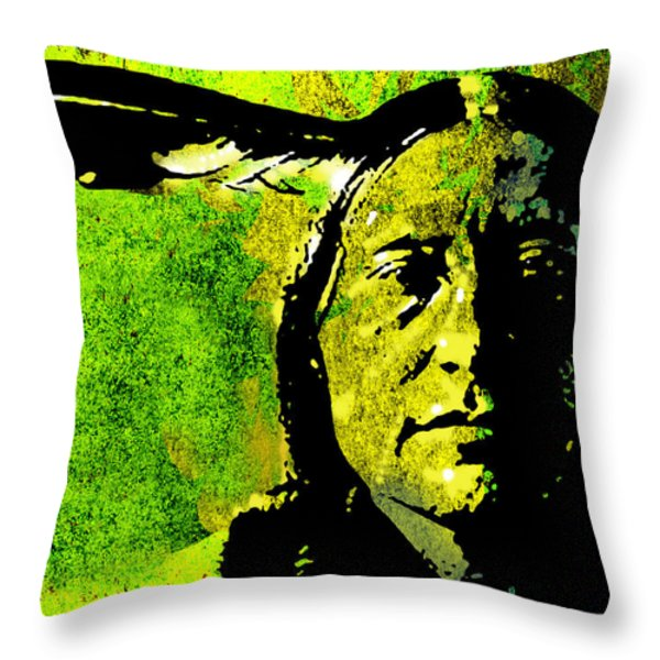 Scabby Bull Throw Pillow by Paul Sachtleben
