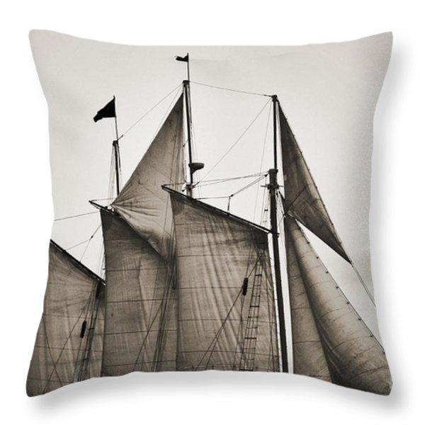 Schooner Pride Tall Ship Charleston SC Throw Pillow by Dustin K Ryan
