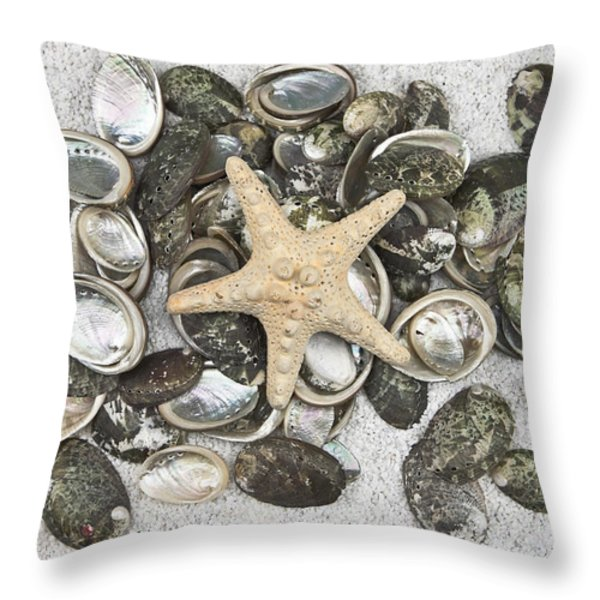 seashells Throw Pillow by Joana Kruse