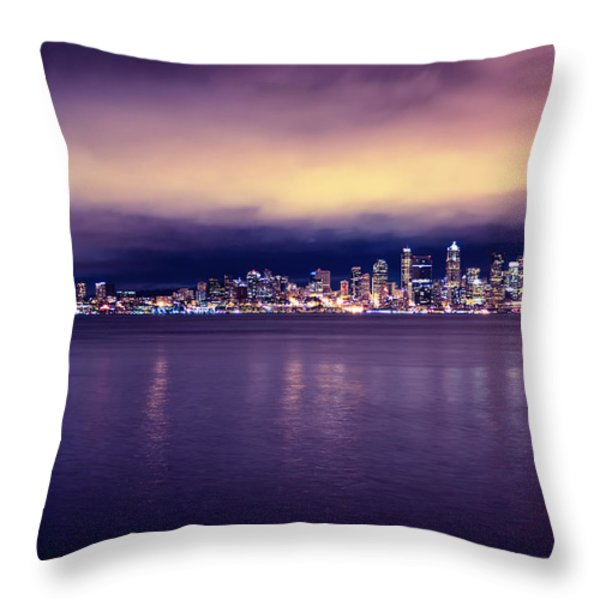 Seattle From Alki Throw Pillow by Tanya Harrison